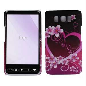 HD2 T8585 Accessory   Purple Heart Hard Case Protector Cover + Free