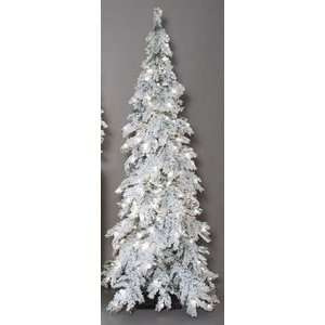 Snow Pre Lit Mountain Pine Christmas Tree