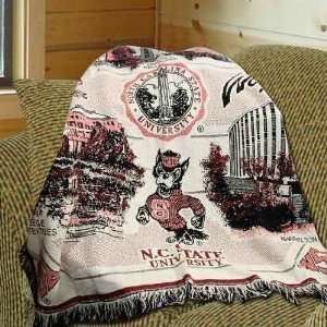 North Carolina State Wolfpack University Throw Blanket