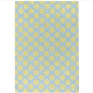 Luxe Light Blue / Green Contemporary Rug Size 410 x 7