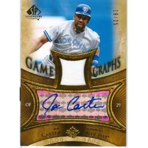 Joe Carter Autograph Game Worn Jersey Card