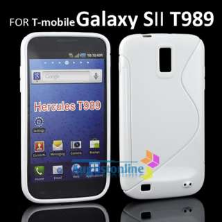 WHITE SOFT TPU GEL CASE COVER FOR SAMSUNG GALAXY S II 2 T MOBILE