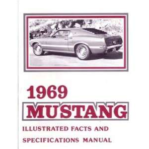 1969 FORD MUSTANG Facts Features Sales Brochure Book