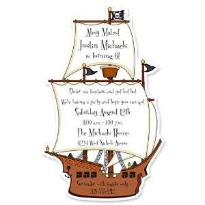 Childrens Birthday Party Invitations   Pirate Ship Birthday Party