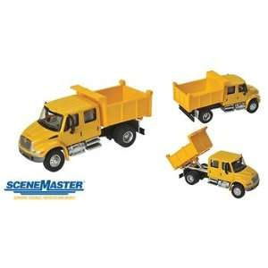 Truck   Assembled    Crew Cab Dump Truck (Yellow)   HO Toys & Games