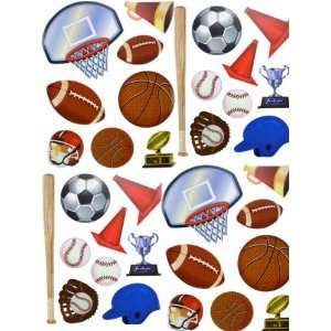 Sheets of Sports Vinyl Wall Decal Stickers Wallies