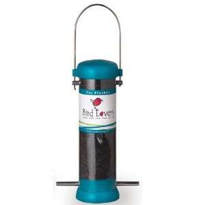 Droll Yankees   8 inch Bird Lovers Finch Feeder   Aqua