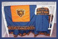 NEW baby crib bedding set made w/ CHICAGO BEARS