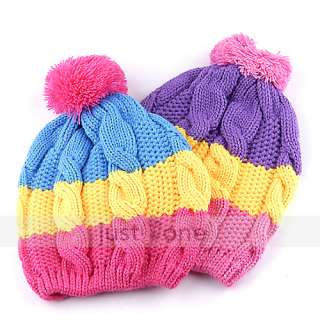 Kids Children Girls Boys Stretchy Warm Winter Cap Hat Beanie