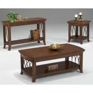 Bernards 8620 Cathedral Cherry with Metal Cocktail Table