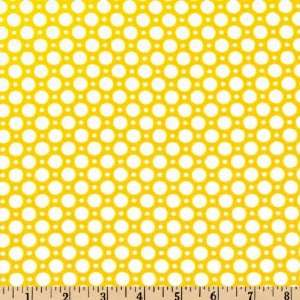 45 Wide Luna Polka Dot Sunshine Fabric By The Yard Arts