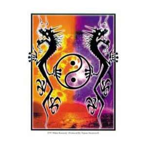 Yin Yang Dragons Decal   Sticker Automotive