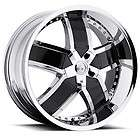20 22 24 VCT Lombardi Chrome Black Wheels Dodge Ram 1500 Durango