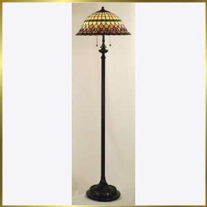 Tiffany Floor Lamp, QZTF9299VB, 2 lights, Antique Bronze, 18 wide X