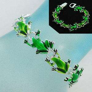 FROG TOAD GUPPY POND GREEN AQUARIUM CUTE BRACELET 466