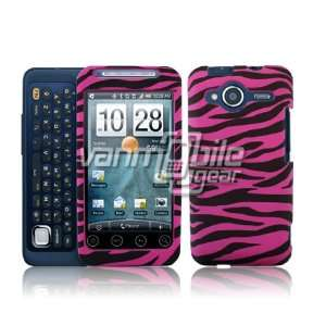 Hot pink and black Zebra design hard case for the Evo Shift + Screen