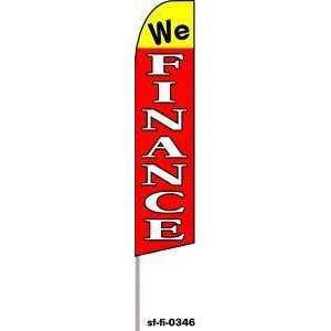 We Finance Extra Wide Swooper Feather Business Flag
