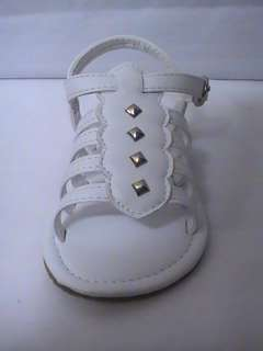 Baby Girl White Gladiator Sandal (61) INFANT size 4