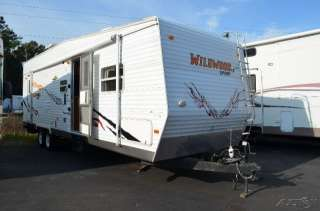 2007 Forest River WILDWOOD 29FB Toy Hauler Travel Trailer RV Camper in