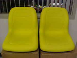 New Pair of Genuine John Deere Gator seats in Yellow