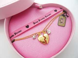 Auth Juicy Couture Best Friends Forever NECKLACE New IN BOX $68