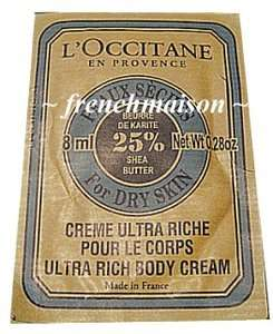 Occitane Shea Butter ULTRA RICH BODY CREAM Samples