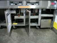 Frymaster FMH250BLSC double gas deep fat fryers with 2 dump stations
