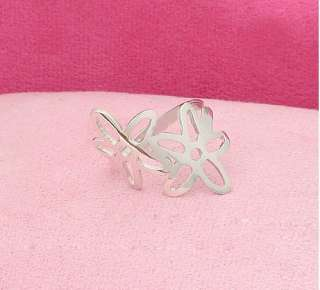 Gk4504 New Fashion Jewelry Womens Silver Double Flower Ring