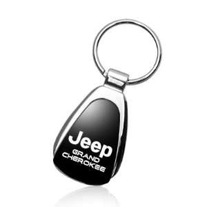 Jeep Grand Cherokee Black Tear Drop Key Chain Automotive