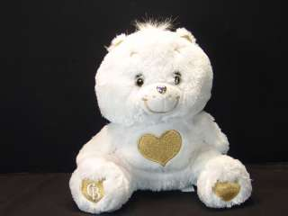 WHITE TENDER HEART OF GOLD CARE BEAR COLLECTORS EDITION PLUSH