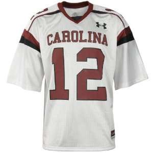 com Under Armour South Carolina Gamecocks #12 White Replica Football