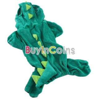 Dinosaur Puppies Dog Cothes Hooded Costume Pet Supplies Small