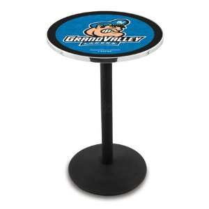 42 Grand Valley State Bar Height Pub Table   Round Base