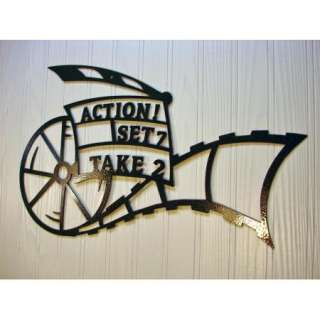 Metal Wall Art Home Theater Decor Action Movie Reel