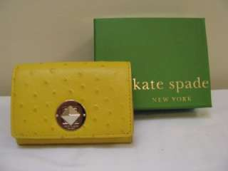 Kate Spade New York Wallet Purse Yellow Zipper NIB