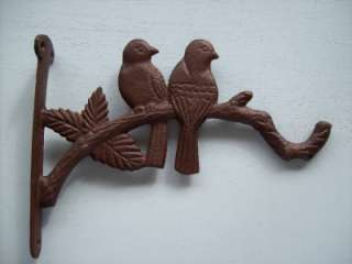 Cast Iron Love Birds On A Branch Plant Hanger
