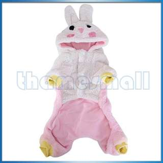 Pet Dog Warm Coat Jumpsuit Velveteen Rabbit Hoodie Hooded Costume