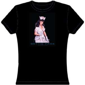 Bettie Page Nurse Trend Fit T Shirt   Small