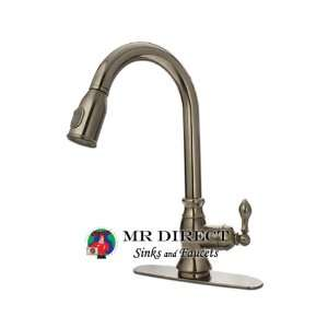 Brushed Nickel Single Handle Pull Out Kitchen Faucet