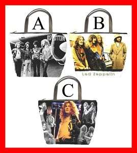 Led Zeppelin Rock Band Bucket Bag Handbag Purse #PICK 1
