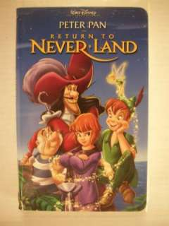 Disney Peter Pan Return To Never Land VHS Tape 786936164848