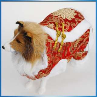 superstore pet dog chinese tang dress suit coat apparel new year party