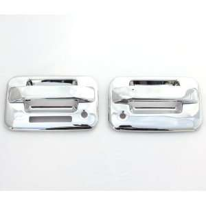 04 11 Ford F 150 (2 Doors) Chrome Door Handle Covers with keypad & psg
