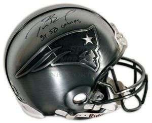 New England Patriots signed full size PEWTER helmet 3x champs limited