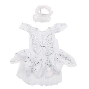 Angel Paws Halloween Dog Costume White with Wings and Halo