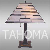 Tiffany Style Stained Glass Art Deco Slate Table Lamp With Fast Free