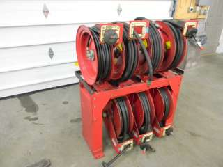 LINCOLN HOSE REEL RACK SERVICE TRUCK 2250 PSI OIL AIR LUBE GREASE HIGH