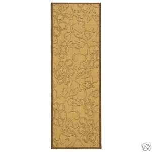Indoor/Outdoor Natural/Brown Aruba Rug 2 4 x 6 7 Runner