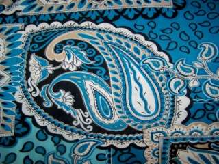 BLACK & WHITE PAISLEY LYCRA STRETCH ITY FABRIC 1 YARD 18 INCHES