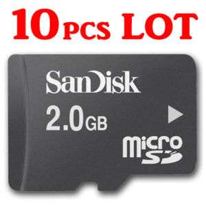 10pcs LOT 2GB 2G microSD micro SD San Disk Memory Card